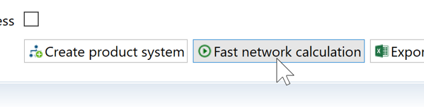 Fast network calculation in openLCA 1.10.2 – what is it and what is it good for?