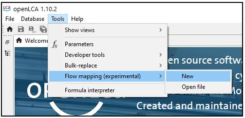 The flow mapping feature in openLCA – what is it and what can it be used for?